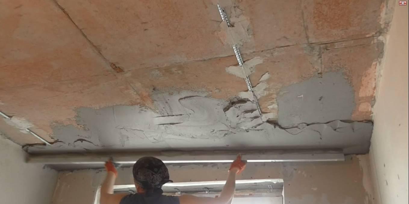 Как выровнять потолок: плюсы и минусы выравнивание поверхности с помощью шпаклевки и гипсокартона
