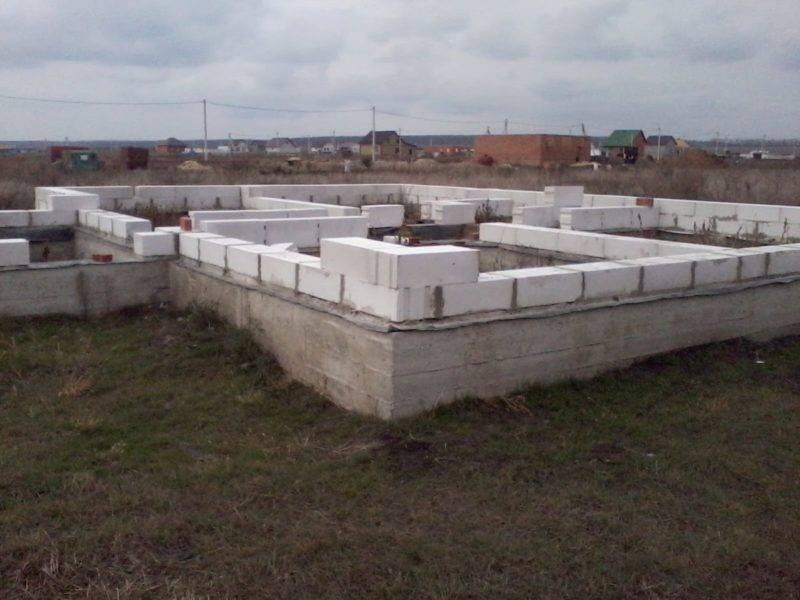 Фундамент для дома из газобетона. какой фундамент для дома из газобетона лучше