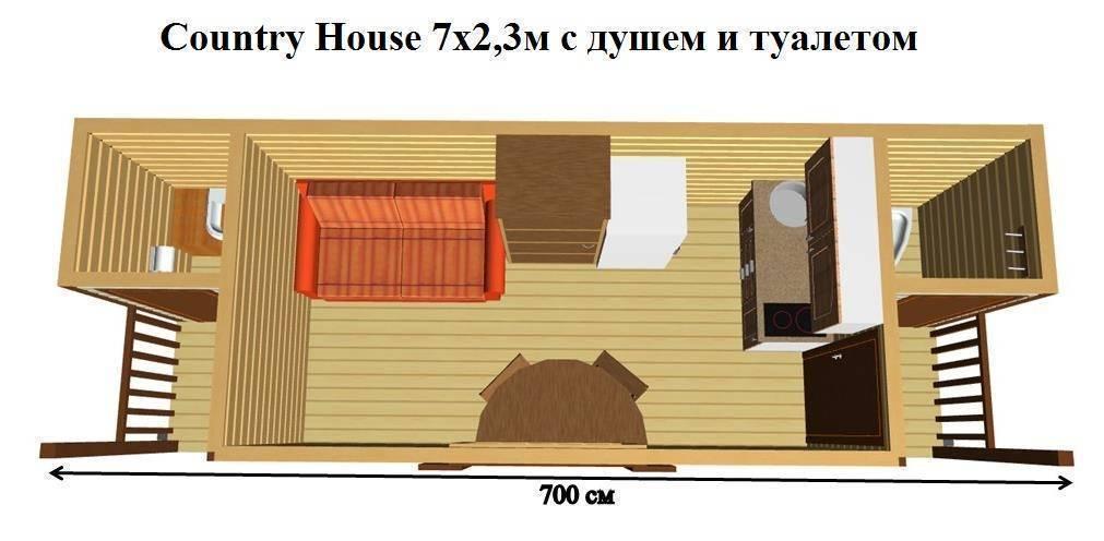 Дачные бытовки утепленные с верандой, двухэтажные из бруса с душем и туалетом, обустройство хозблока, дизайн и интерьер
