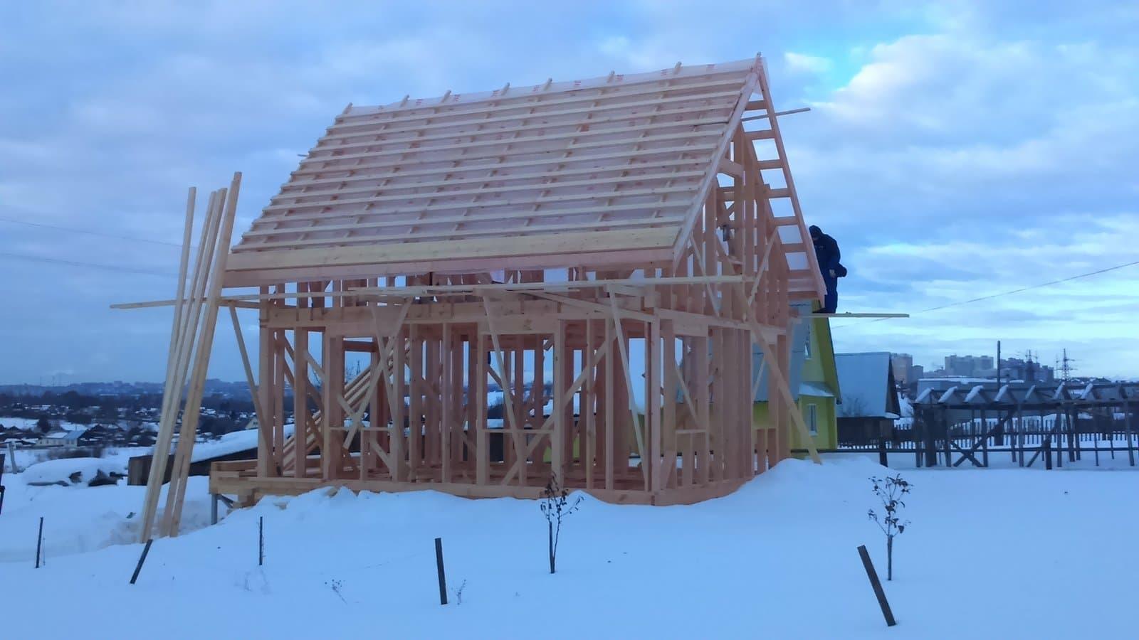 Из какой доски строить каркасный дом ⋆ финский домик