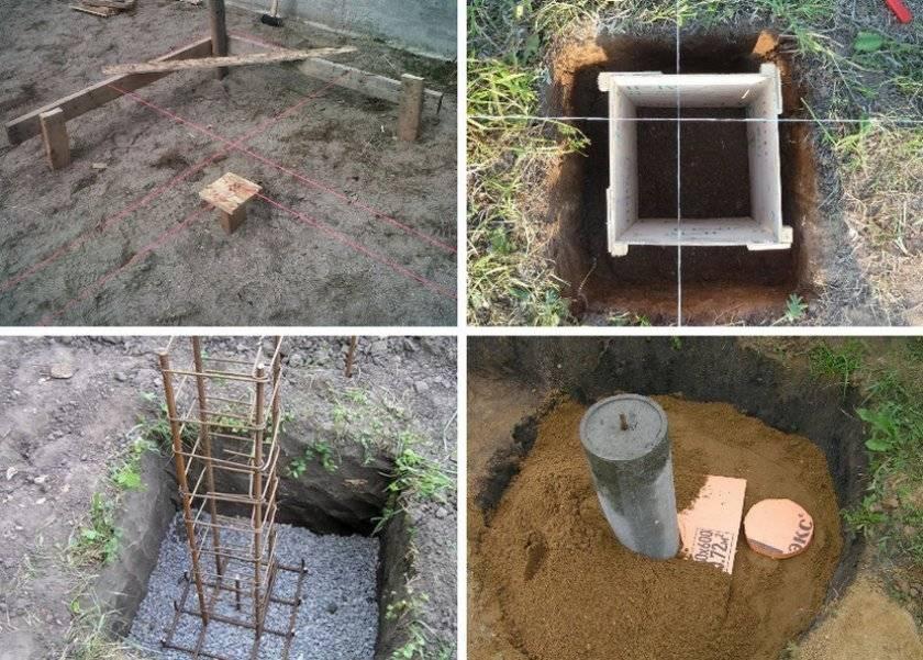 Материалы для опалубки для столбчатого фундамента дома и схема ее монтажа