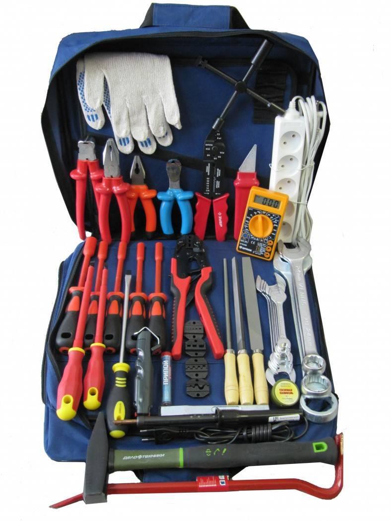 Набор инструментов для электрика (список)