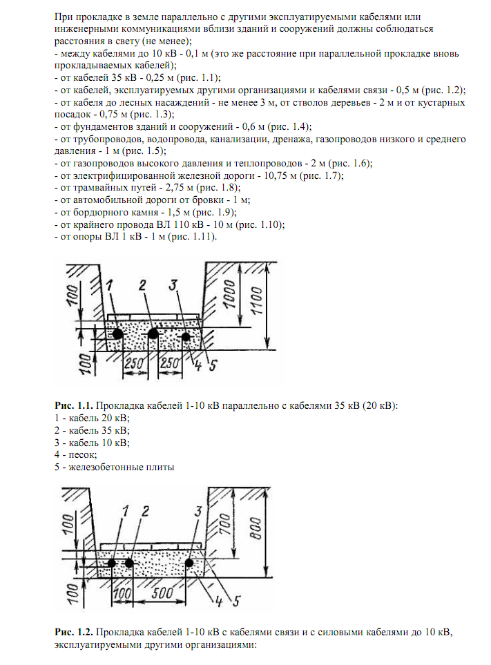 Как выполнить прокладку силового электрического кабеля в земле
