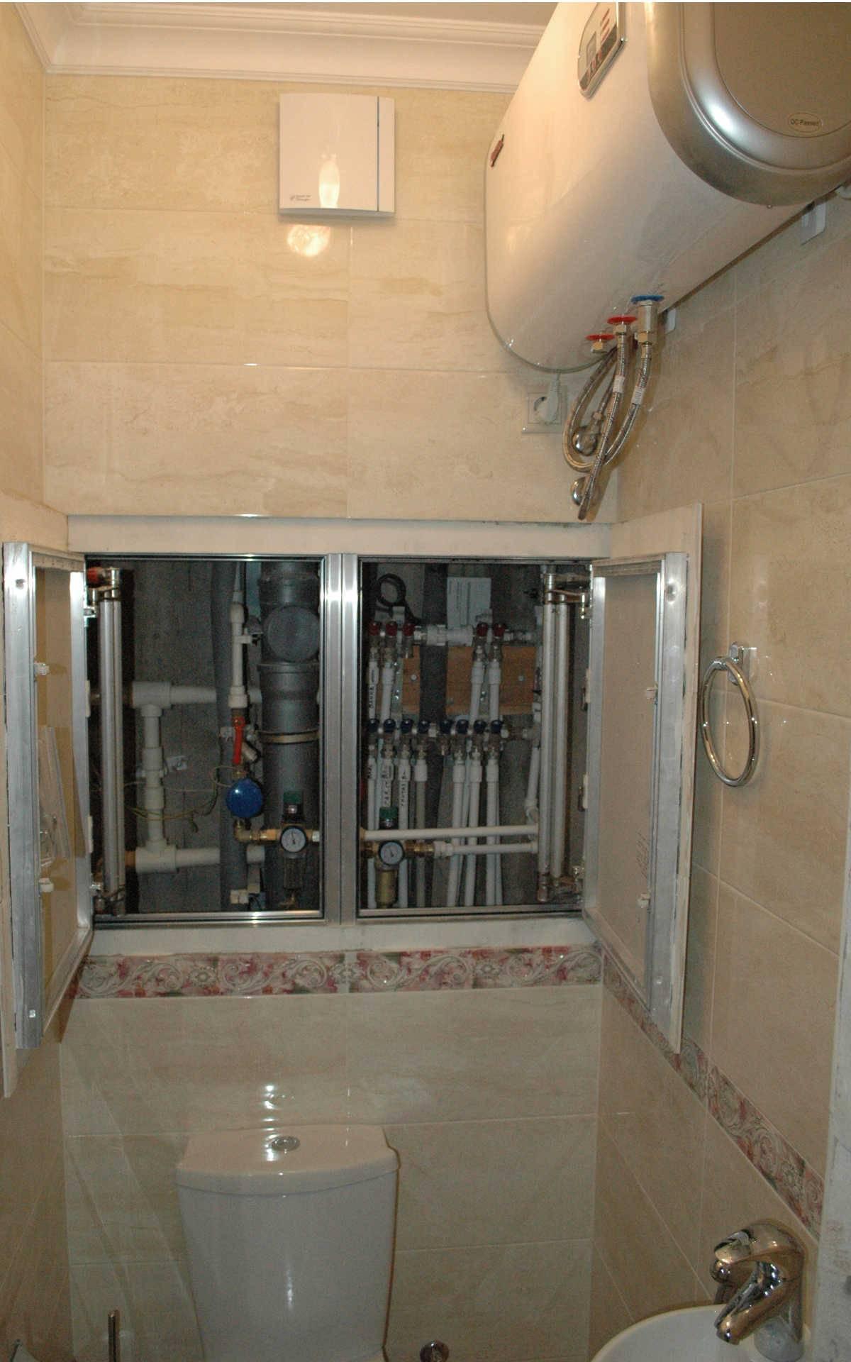 Разводка труб в ванной из полипропилена и металлопластика: схема, инструкция