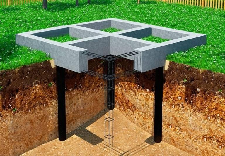 Свайно-ростверковый фундамент: плюсы и минусы устройства