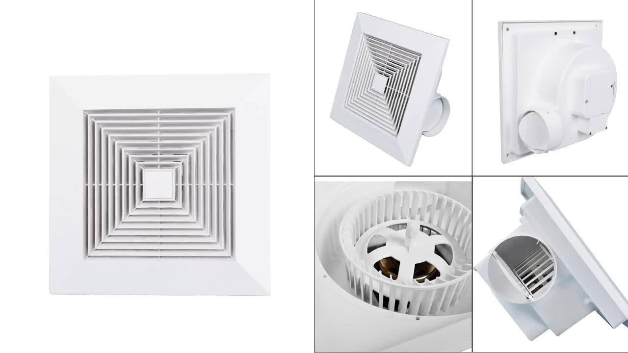 Вентилятор потолочный вытяжной: модуль и вентиляционное отверстие в ванной и туалете