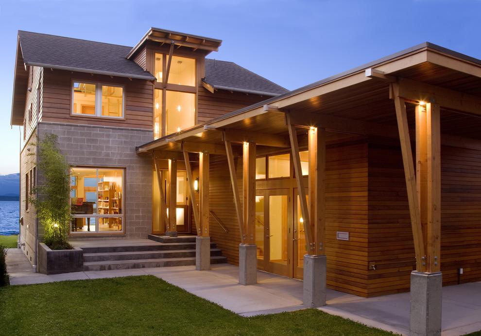 Идеи для интерьеров домов из бруса