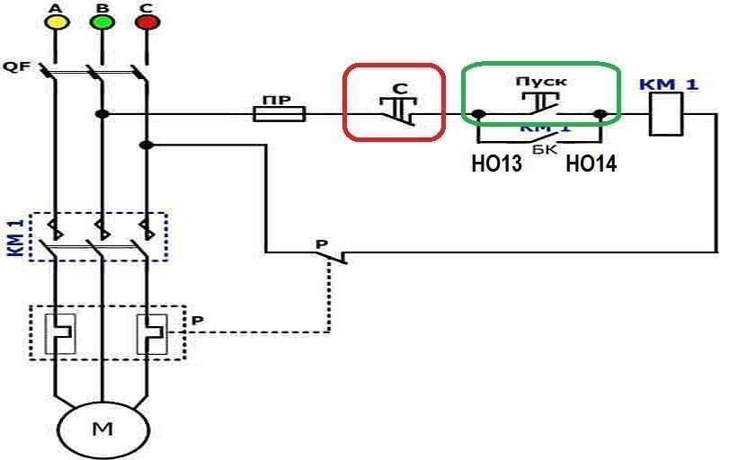 Изучаем схему подключения магнитного пускателя