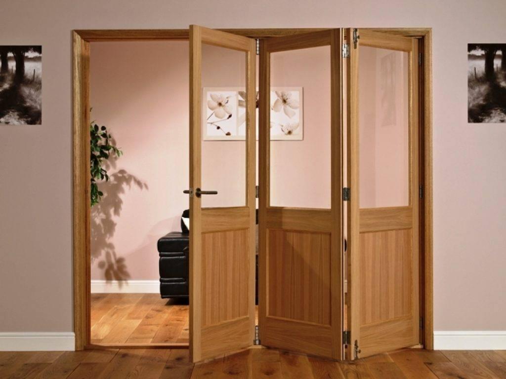 Установка двери-гармошки или двери-книжки