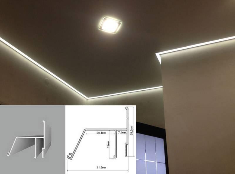 Профиль для двухуровневых потолков пп-75, с подсветкой пл-75, комбинированный профиль нп-5 и кп-2, брус бп-40, бесщелевой пб-65, разделительный сп-1 и сп-2