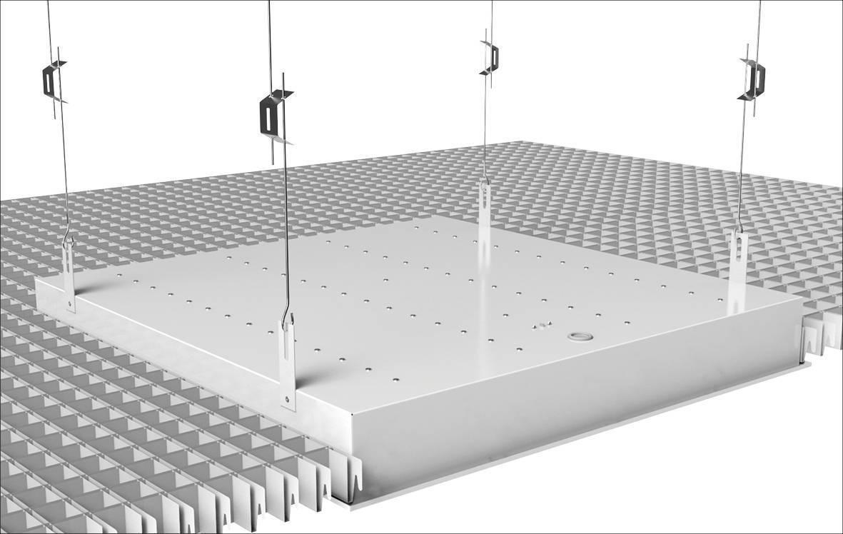 Ячеистый подвесной потолок решетчатый 600х600 и растровый: установка и цена