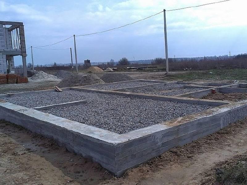 Фундамент для дома из газобетонных блоков