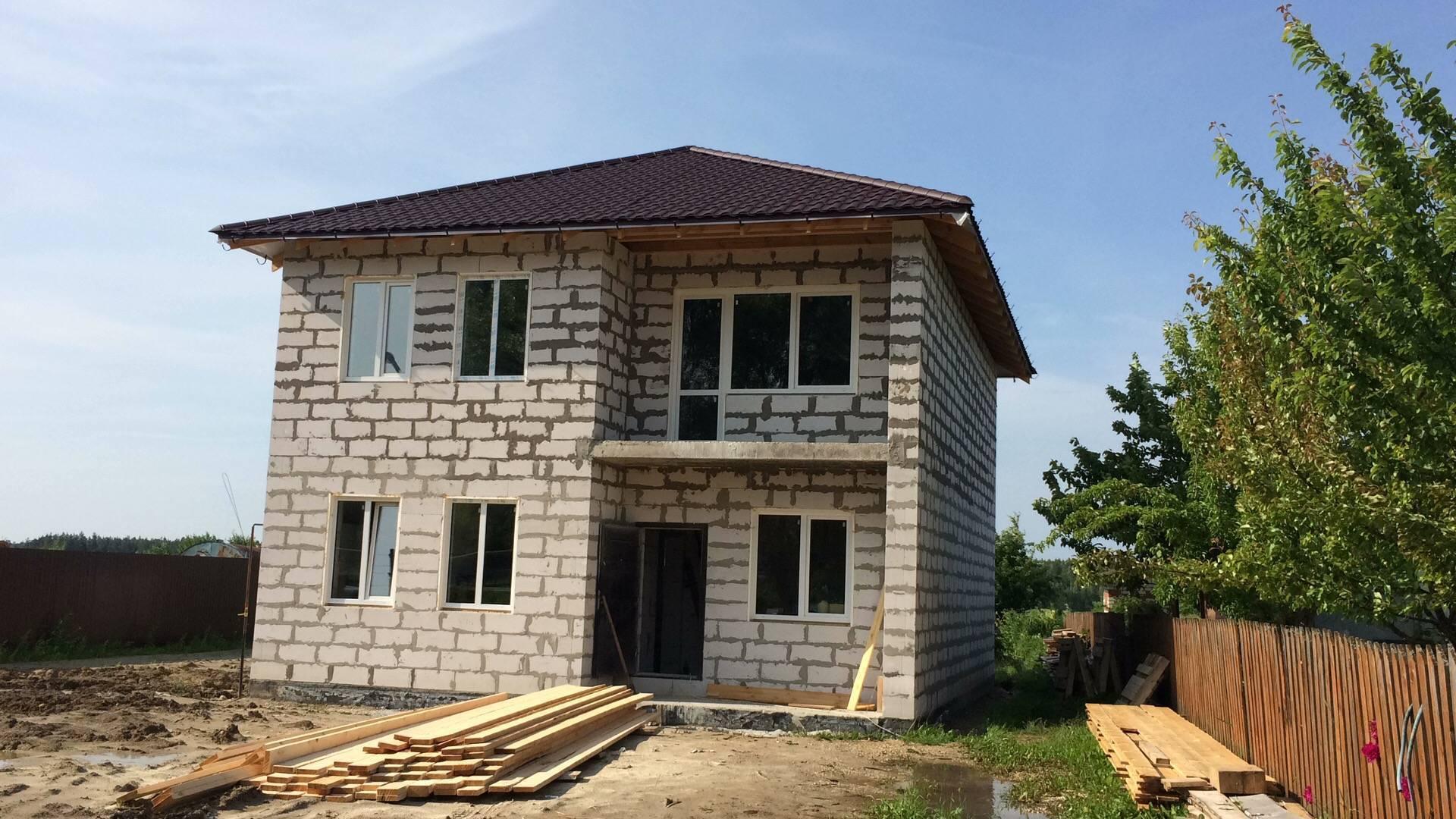 За сколько времени можно построить дом из газобетона, сроки