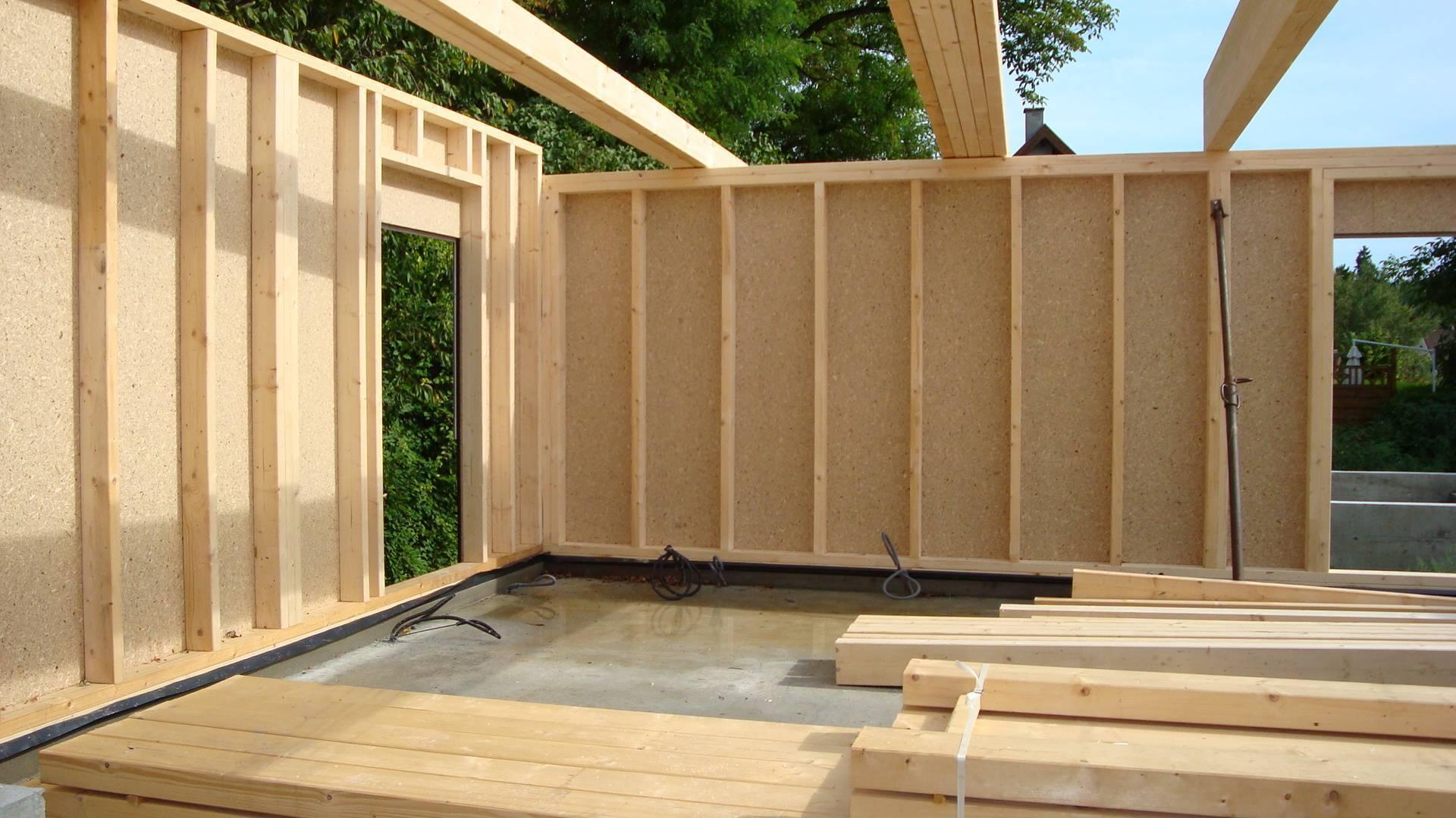 Каркасный дом из осб плит: как обшить,толщина osb для стен