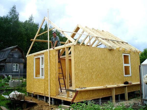Строим дом своими руками из осб. строительство каркасных домов
