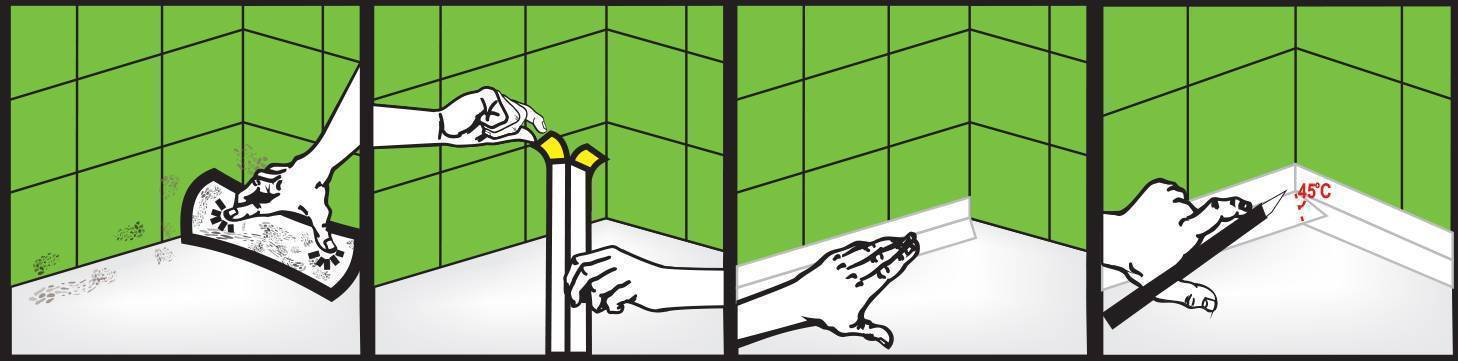 Бордюр для ванной (виды) — установка пластикового бордюра на ванну (фото, видео)