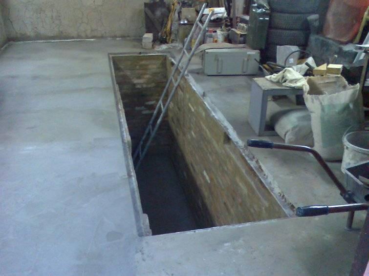 Смотровая яма в гараже своими руками: размеры, гидроизоляция