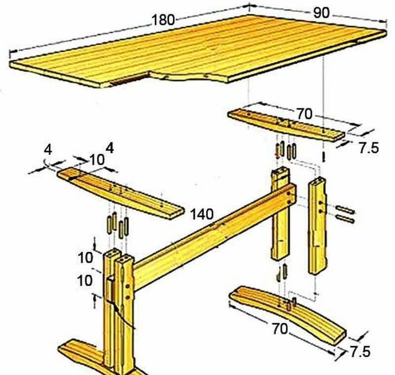 Складной столик для пикника своими руками: чертежи, видео