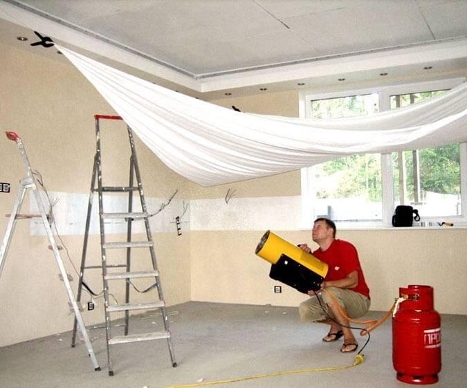 Как сделать натяжной потолок своими руками: фото и видео