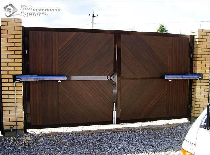 Автоматические ворота (93 фото): как сделать привод с дистанционным открытием для стальных ограждений на даче своими руками