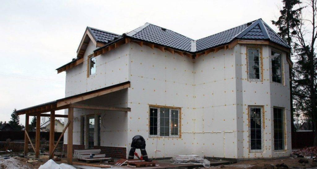 Внешнее утепление стен пенопластом: утепляем дом снаружи своми руками