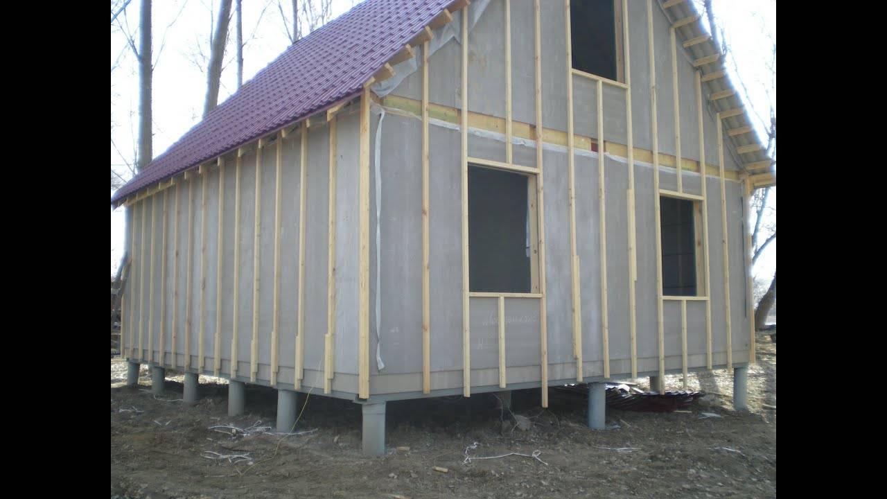 Отделка фасада цементно-стружечными плитами (цсп)