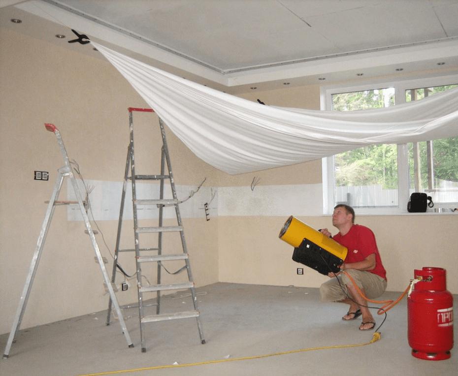 Натяжные потолки без нагрева. особенности монтажа