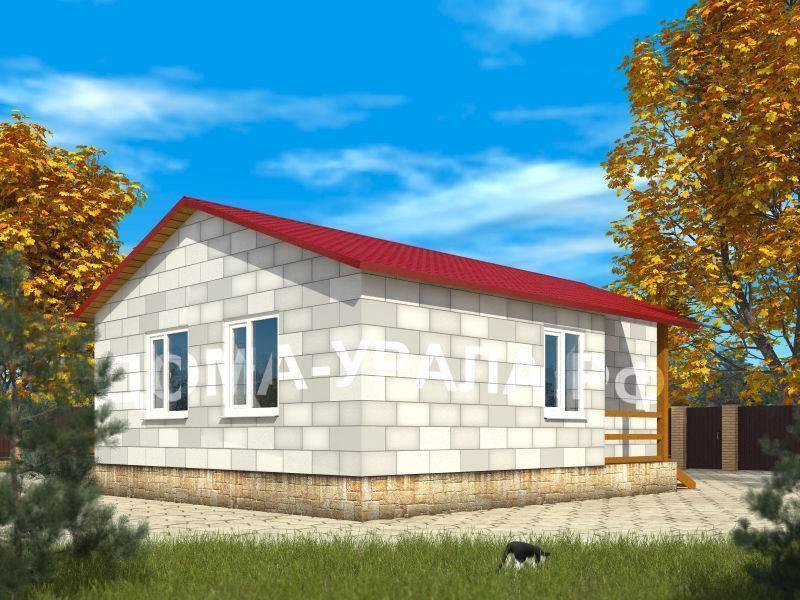 Проекты одноэтажных домов из пеноблоков: особенности и примеры