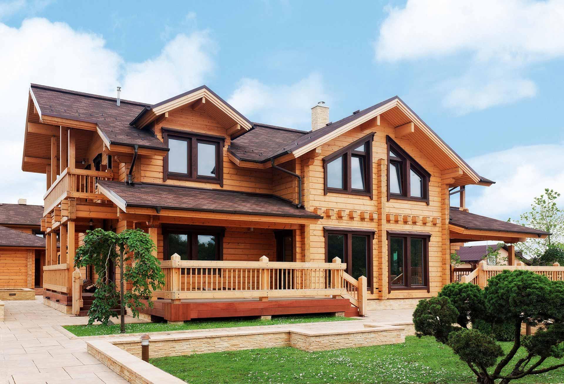 Проекты двухэтажных деревянных домов