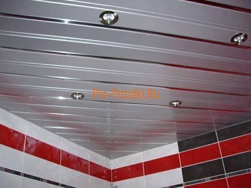 Алюминиевый потолок в ванной своими руками — выбор и установка (фото, видео)