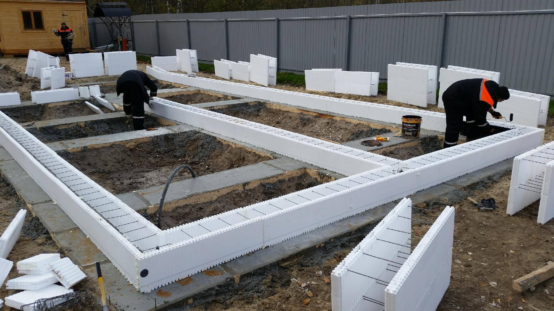Столбчатый фундамент для дома из газобетона, пеноблоков, бруса