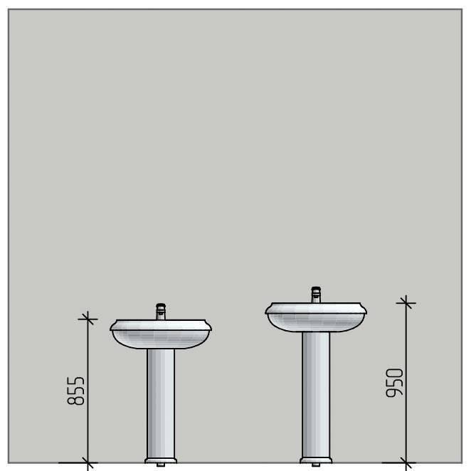 Размеры раковин в ванную комнату: стандартная ширина и глубина умывальника. как подобрать размер?
