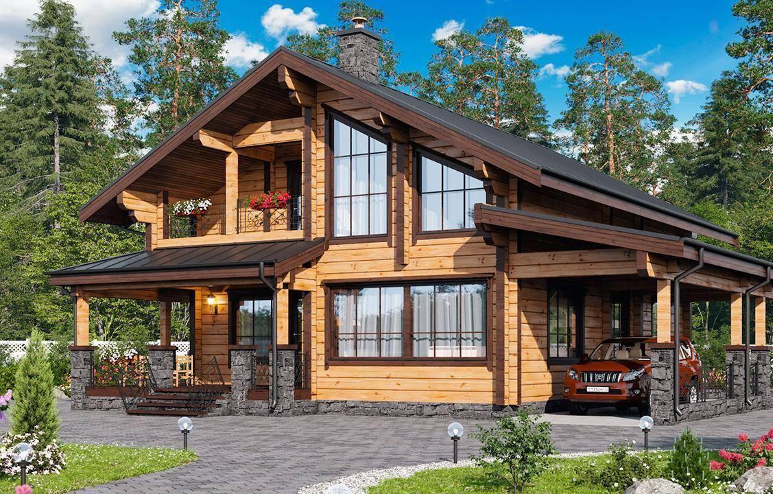 Проектирование комбинированных домов в стиле шале