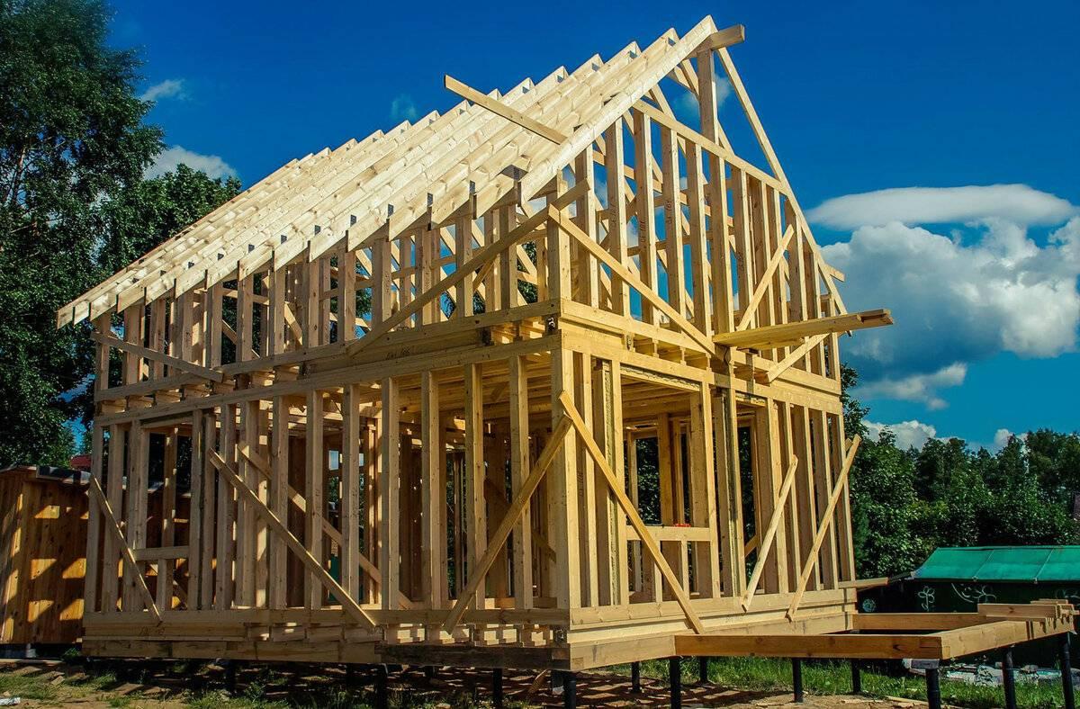Цена постройки каркасного дома от фундамента до крыши