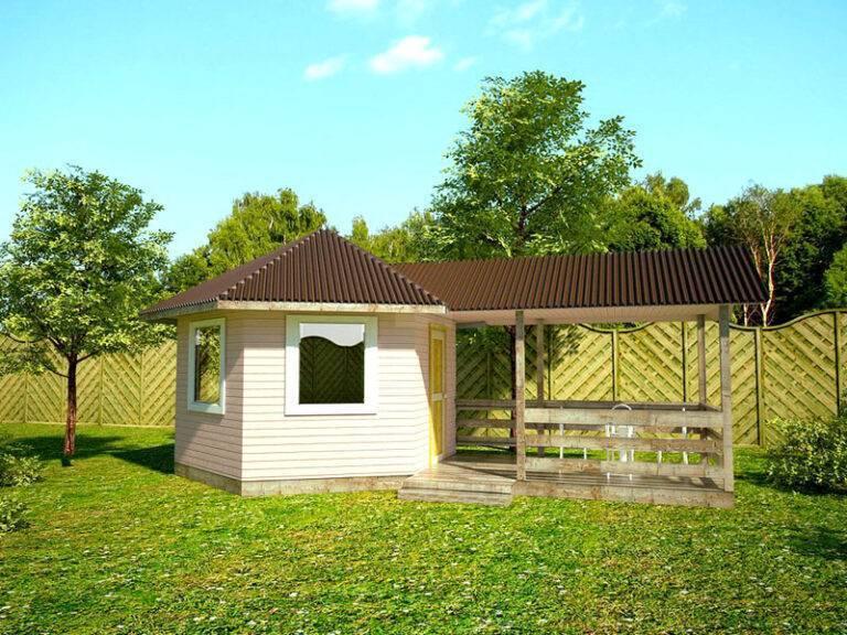 Летняя кухня на даче: простая конструкция своими руками, закрытого типа, проект, как построить из кирпича, фото