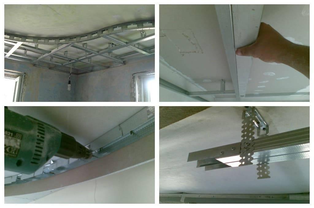 Потолки из гипсокартона: инструкция по монтажу своими руками