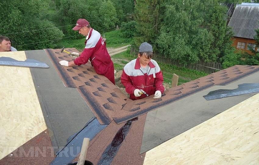 Монтаж мягкой черепицы на крышу: инструкция по укладке своими руками