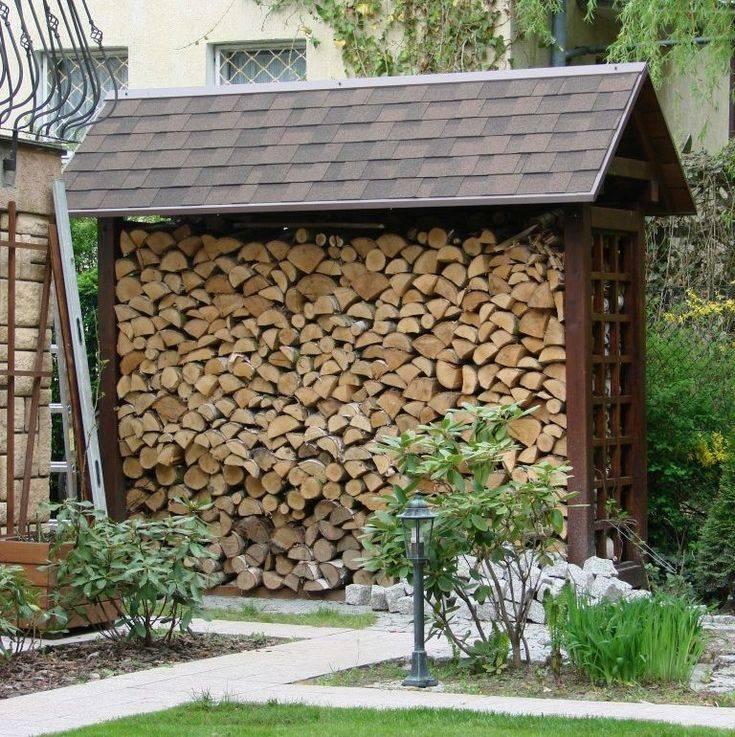 Дровники для дачи деревянные своими руками: фото дровяника из дерева и бруса, дровница из оцилиндрованного бревна