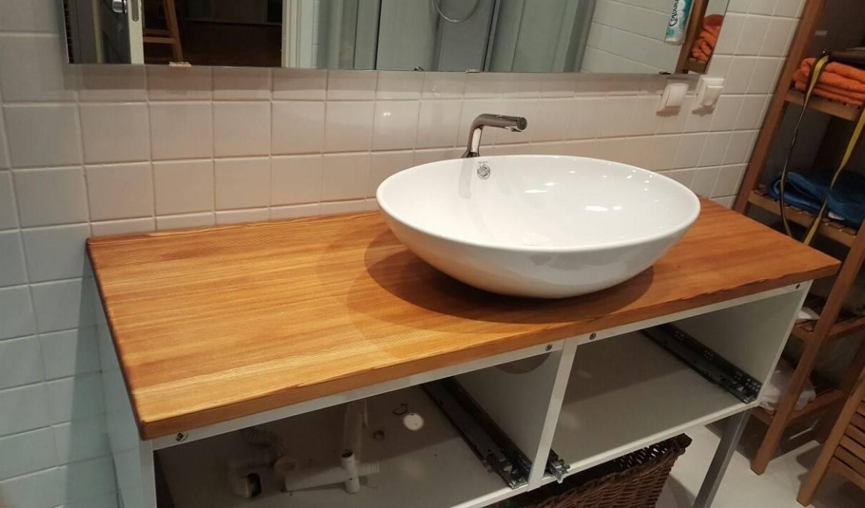Столешница под раковину и стиральную машину: виды и выбор в ванную