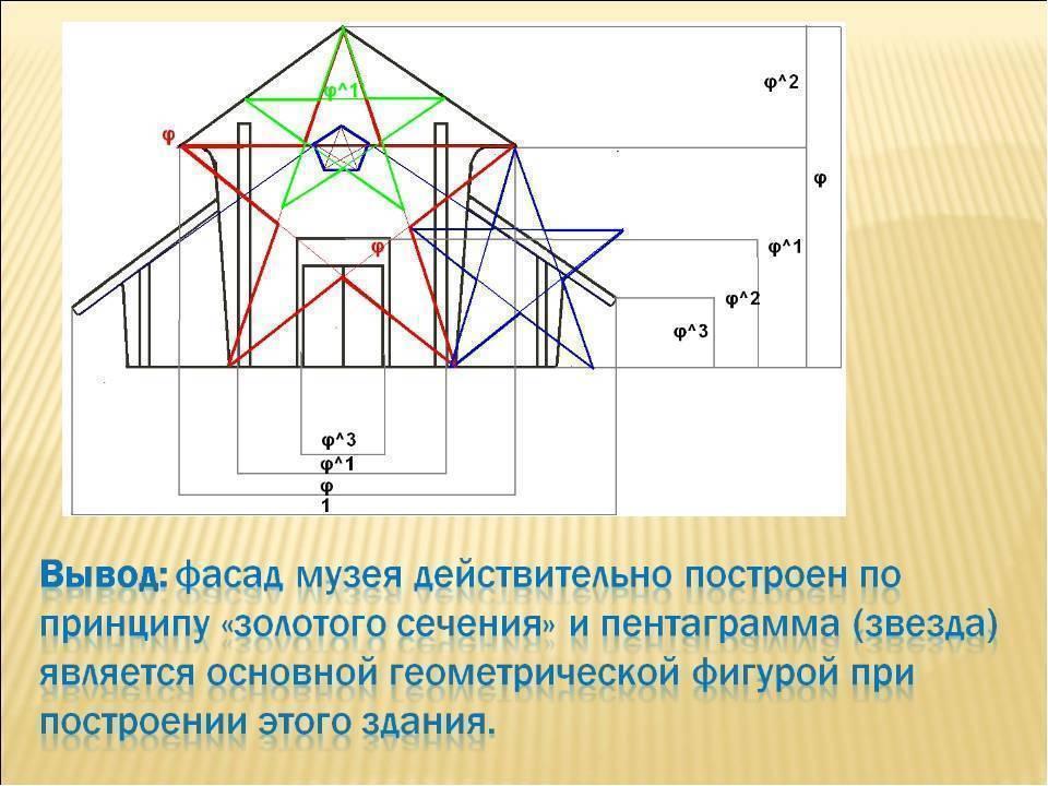 « золотое сечение в архитектуре ». золотое сечение - пропорция, которой древние маги приписывали особые свойства. если произвести деление объекта на две. - презентация