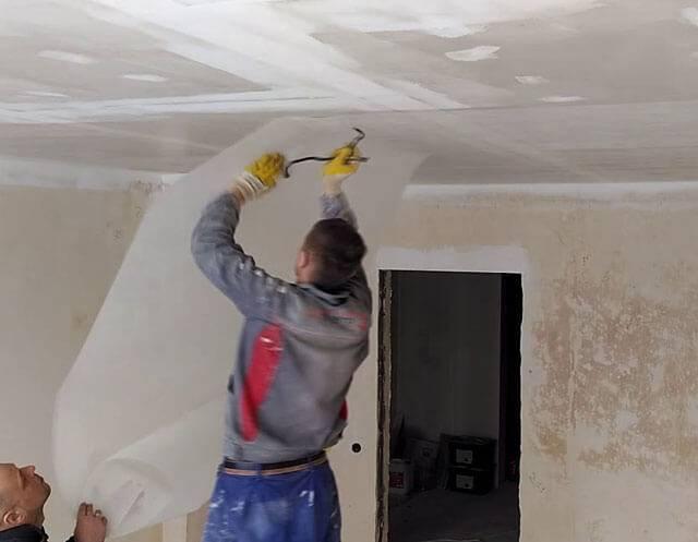 Стеклохолст на потолок: достоинства, пошаговая инструкция монтажа