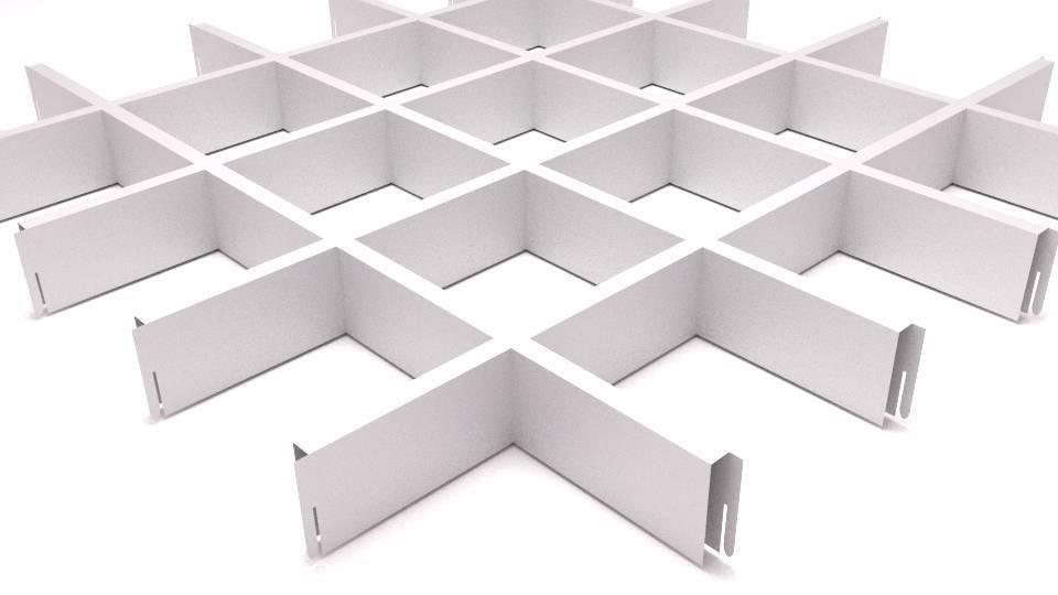 Ячеистый подвесной потолок – проектирование и монтаж