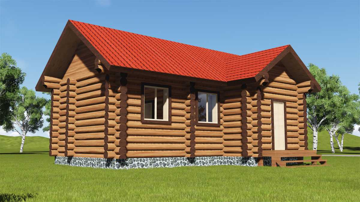 Одноэтажные дома из бревна (43 фото): проект деревянного бревенчатого строения на 150 кв. м и этапы строительства