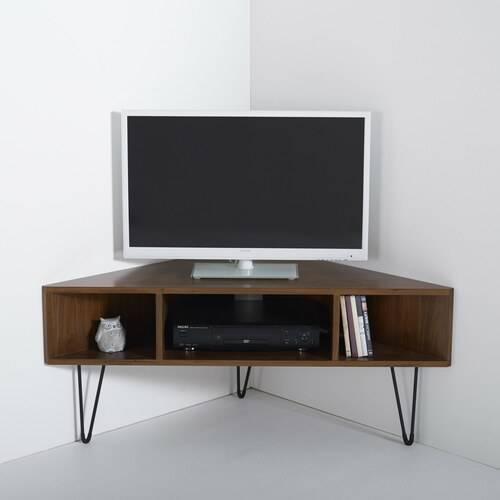 Стеклянная тумба под телевизор, формы, размеры, критерии выбора