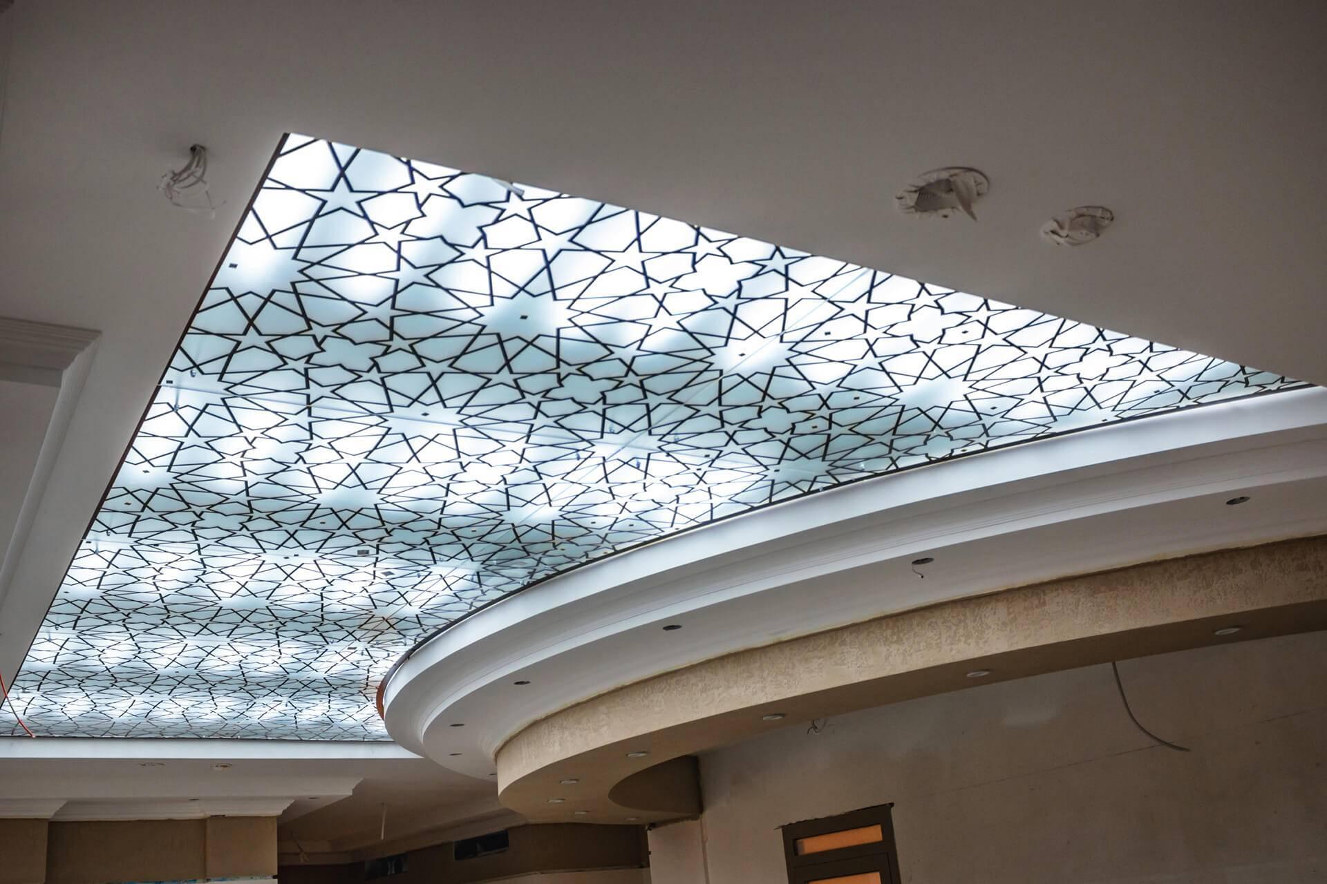 Стеклянные потолки в интерьере