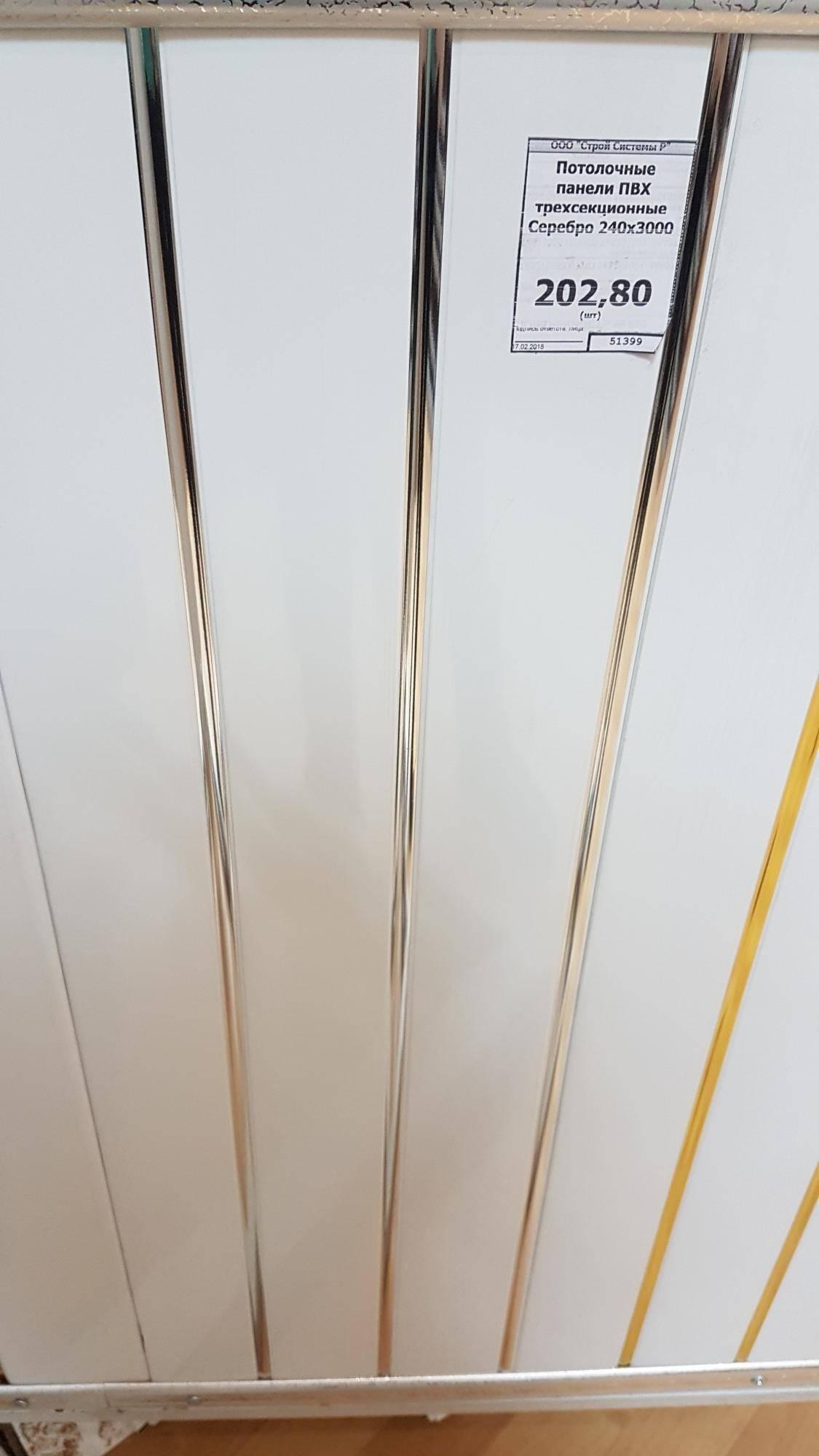 Размеры и стоимость потолочных пвх панелей из пластика