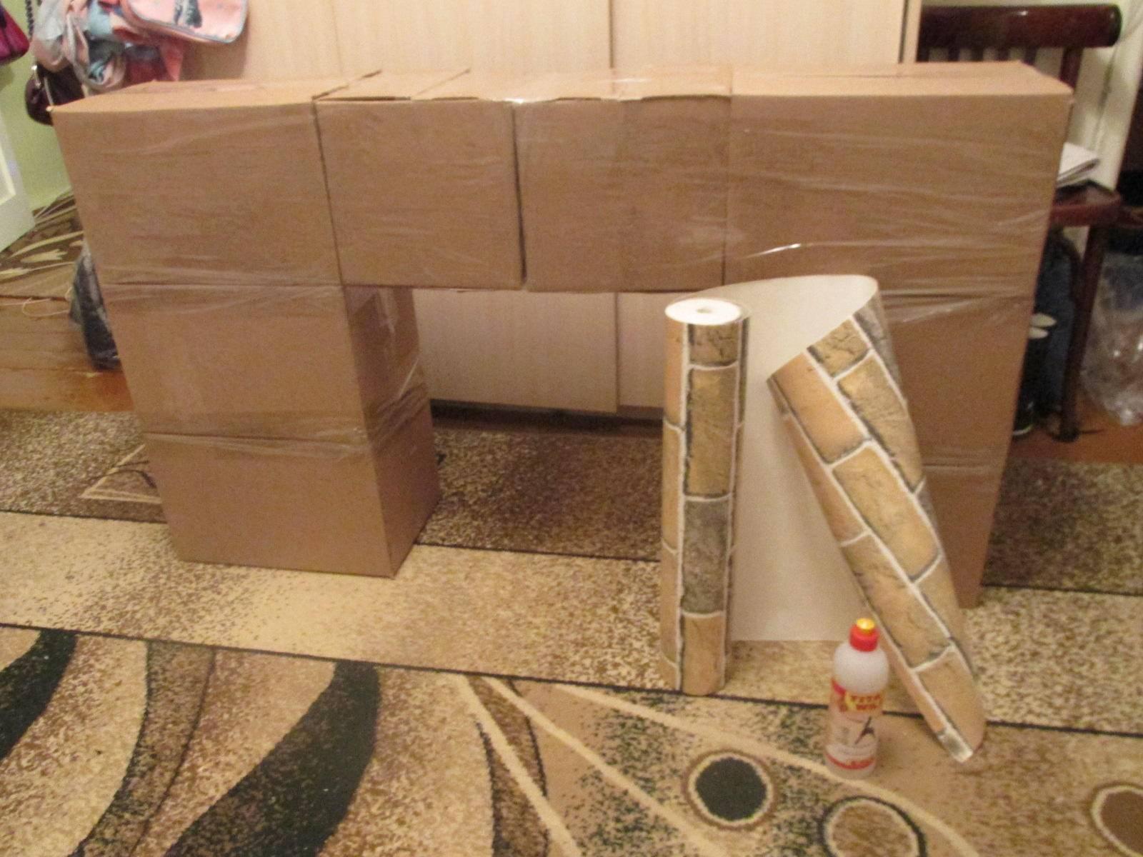Как сделать камин из коробок: пошаговая инструкция создания своими руками
