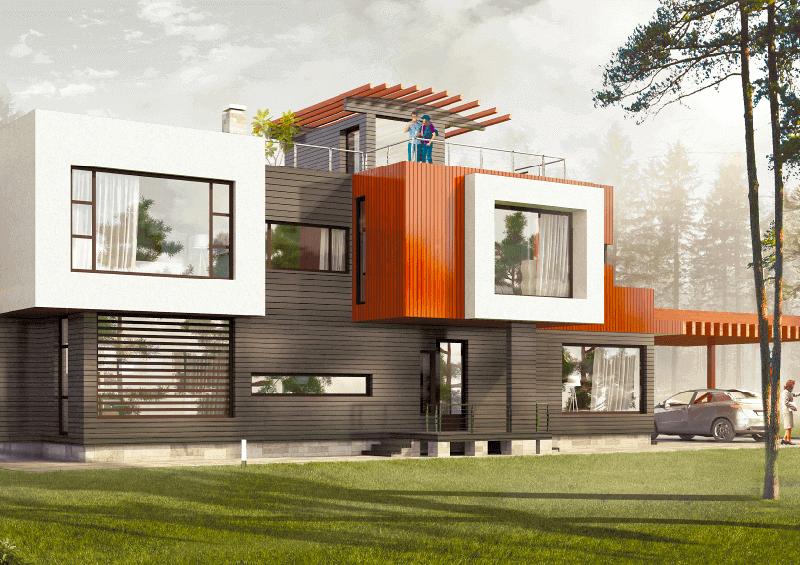 Каркасный дом в стиле хай тек: преимущества и недостатки