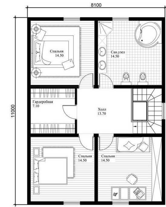 Проект дома из сибита — современный стиль и практичность