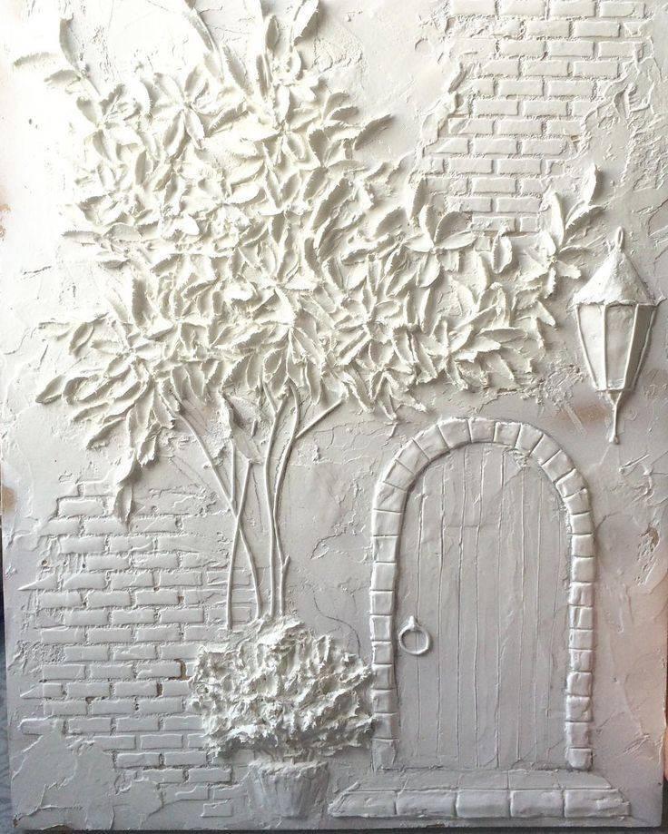 Барельеф на стене в квартире своими руками: как делать птицы, цветы или геометрические фигуры из гипсовой смеси, обязательные требования к шпатлевке и трафаретам